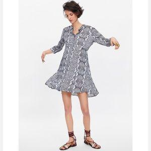 NWT Zara snake print dress Sz Large